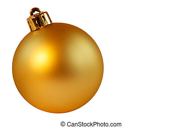 Gold christmas ball - Christmas decorations
