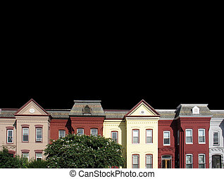DC rowhouses black - one of three versions of this shot-...