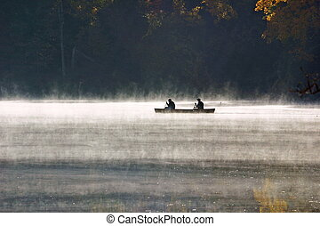 Morning Mist - Canoeing in early morning mist