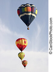 Soaring up - Hot air balloons soar off at 2006 Michigan...