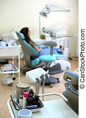 Dental office - Patient in stomatological office On the...