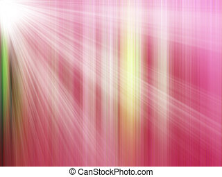 Red Light Rays - Abstract of Red Light Rays