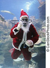 Santa Clause - Underwater Santa Clause (note: image is...