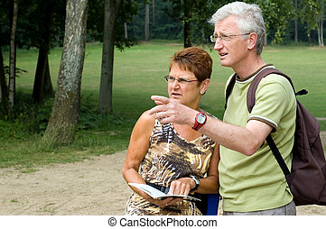 Is this the right way -3 - Active senior couple on a hike