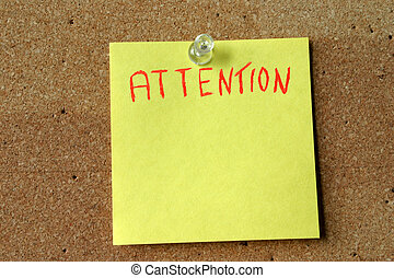 attention post-it