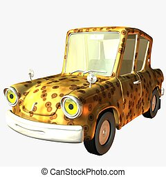 Toon Car Wild Pride - 3D Render