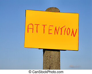 attention sign post
