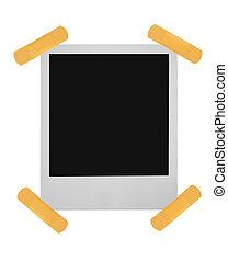 blank polaroid stuck