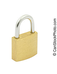padlock on pure white background