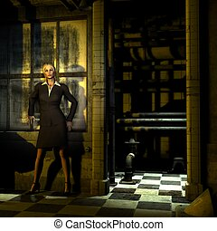 Businesswoman 2 - A businesswoman appears trapped, does she...