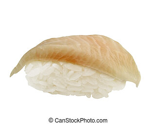 Halibut sushi - A very common white fish sushi-halibut. Very...