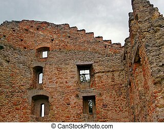 Middle Ages Ruins - Ruins of an German castle of the Middle...