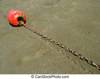 Buoy - Beach marker during low tide