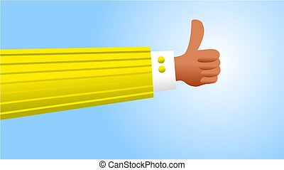 thumbs up - Successful business man with thumbs up