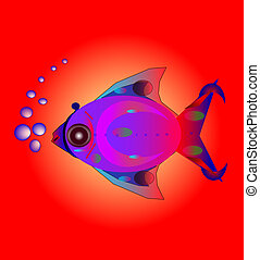fish with air bubbles