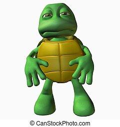 Turtle Boy -Bummer - 3D Toon Render