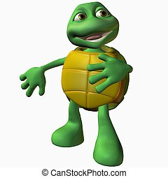 Turtle Boy - 3D Toon Render Turtle Boy -So Cute,It Hurts