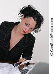 trabalho, secretária