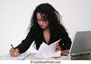 secretária, escrita