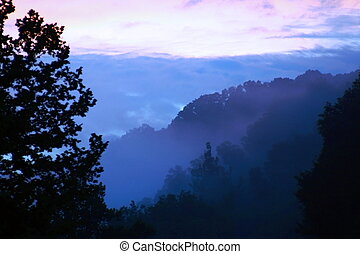 Purple Mountains\' Majesty - Dusk falling in the Appalachian...