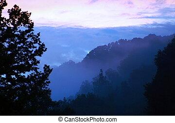 Purple Mountains\' Majesty - Dusk falling in the Appalachian...