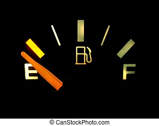 Running on Empty - A gas gauge shows empty