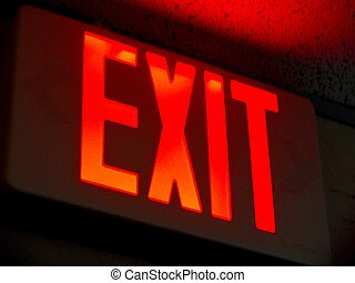 Exit Sign - An Exit Sign