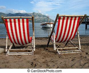 On a beach