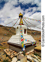 Tibetan Stupa - Stupa at Rongbuk Monastery