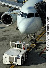 Passenger Aircraft - Jet Aircraft At The Passenger Gate At...