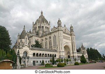 Lisieux Basilica - The Lisieux Basilica Normandy, France...