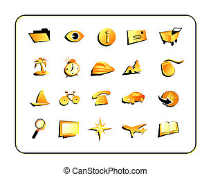 Icon Set with clipping paths - Digital illustration from...