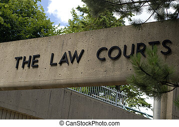 Law Courts - Sign For The Law Courts