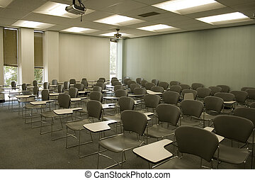 Empty Classroom - Empty chairs in classroom