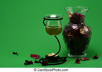 Aroma Therapy 3 - liquid potpourri and a vase of dried...