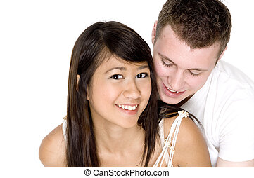 Fun Together - A young couple enjoying being together