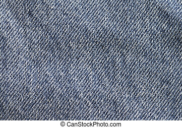 Blue Denim Texture - Closeup of the texture of blue denim