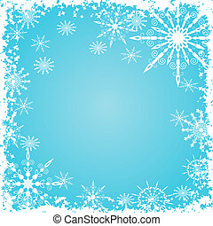 Grunge snowflakes background, vector - Grunge snowflakes...