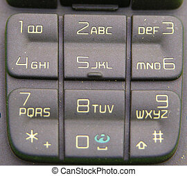 cell phone pad - numbers on a cell phone pad