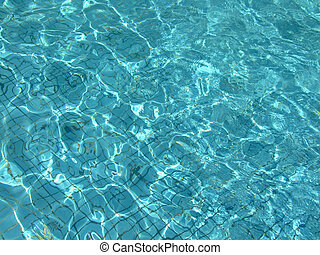 Azure blue water - Surface of blue Azure water
