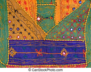 Colorful fabric - Pattern of a colorful fabric with Islamic...