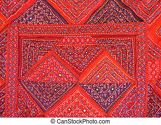 Colorful textile - Pattern of a colorful fabric with Islamic...