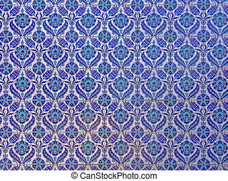 Islamic tiles - Pattern of Islamic ornaments on tiles