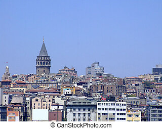 Istanbul city scenery - Istanbul city panorama with famous...