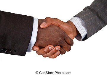 Partnership - This is an image of two business hands...