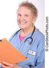 Medical Records - woman holding a file