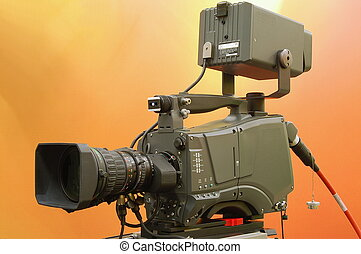 Broadcast camera - Broadcast studio and hand held television...