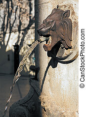 Aix-en-provence #8 - Lion head fountain in Aix-en-Provence,...