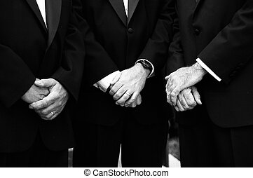 Groomsmen - Detail shot of groomsmen at wedding
