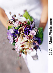 Brides bouquet - Bride holding bouquet